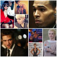 Rihanna, Chris Brown, Britney Spears, Joanna Krupa, Miley Cyrus, Robert Pattinson, Zac Efron, Justin Bieber