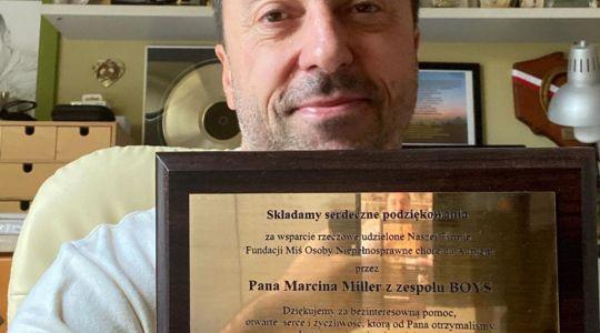 Marcin Miller dostał wyróżnianie. Lider zespołu Boys został doceniony za działalność charytatywną